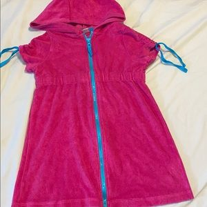 Other - Used big girls 6x hooded cover up!